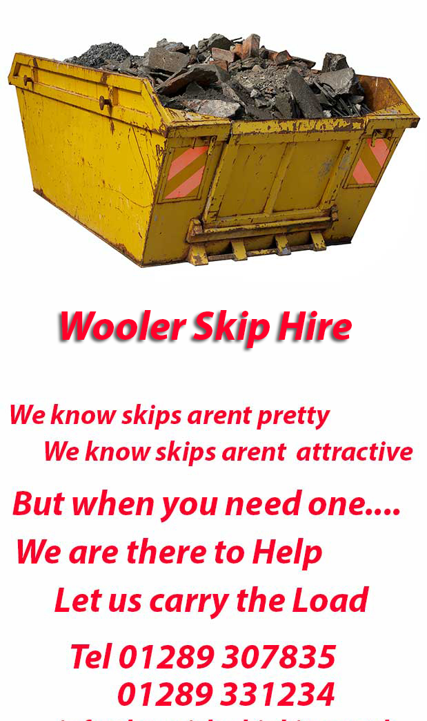 Wooler Skip Hire NE70 Postcode area contact