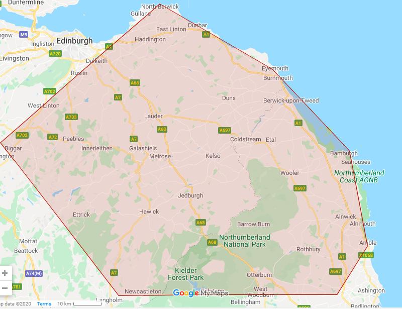 Area of operations Alnwick skip hire